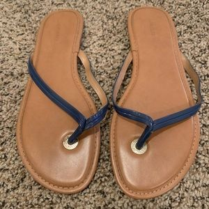 Banana Republic Mazzy Leather Flip Flop Royal Blue